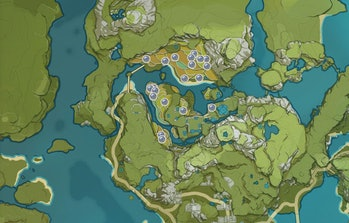 Genshin Impact Glaze Lily Map