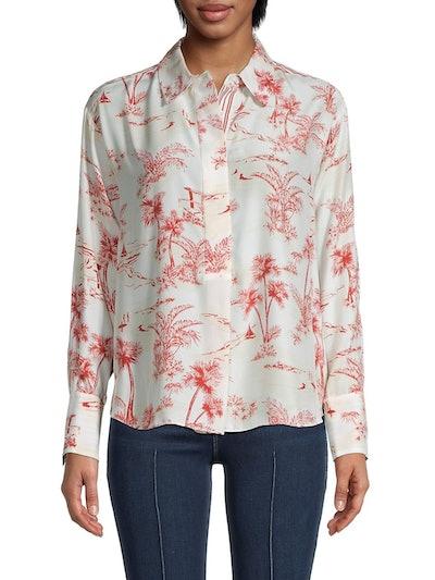 Frame Printed Silk Shirt