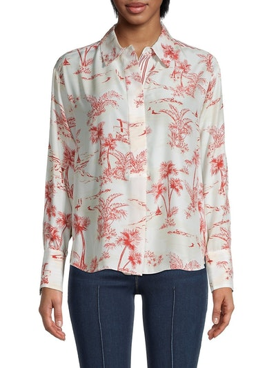 Frame Printed Silk Shirt