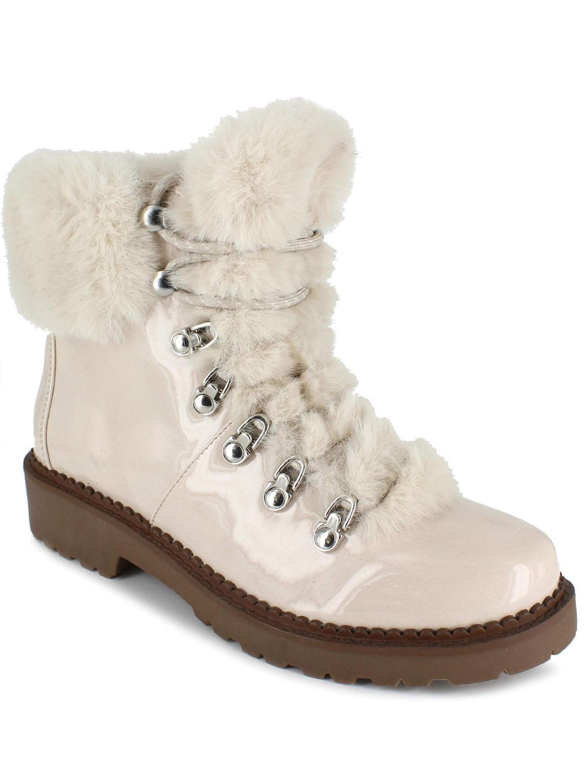 Faux Fur Lace Up Boot