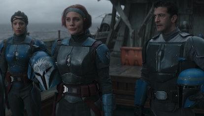Bo-Katan and her Nite Owls in 'The Mandalorian.'