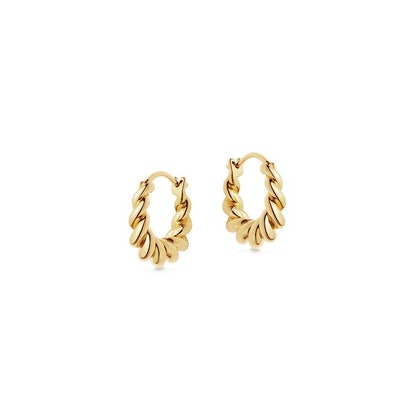 Gold mini tidal hoop earrings