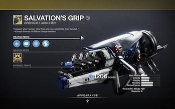 destiny 2 salvation's grip perks