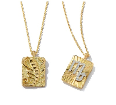 Scorpio Zodiac Pendant Necklace with Diamonds