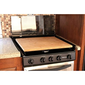 Camco Bamboo Stove Cover Silent Top