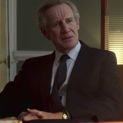 Nicholas Farrell as Michael Shea in 'The Crown' Season 4