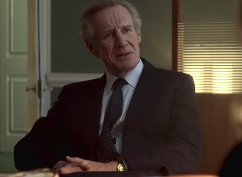 Nicholas Farrell as Michael Shea in 'The Crown' Season 4