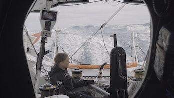 Greta Thunberg on her trans-Atlantic voyage.