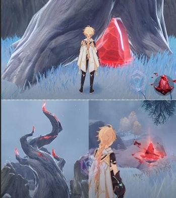 Genshin Impact 1.2 Red Crystals.