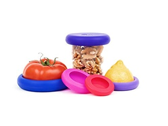 Food Huggers Reusable Silicone Food Savers Set of 5