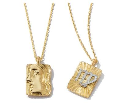 Virgo Zodiac Pendant Necklace with Diamonds