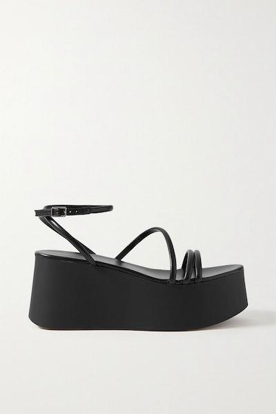 Gianvito Rossi 80 Leather Platform Sandals