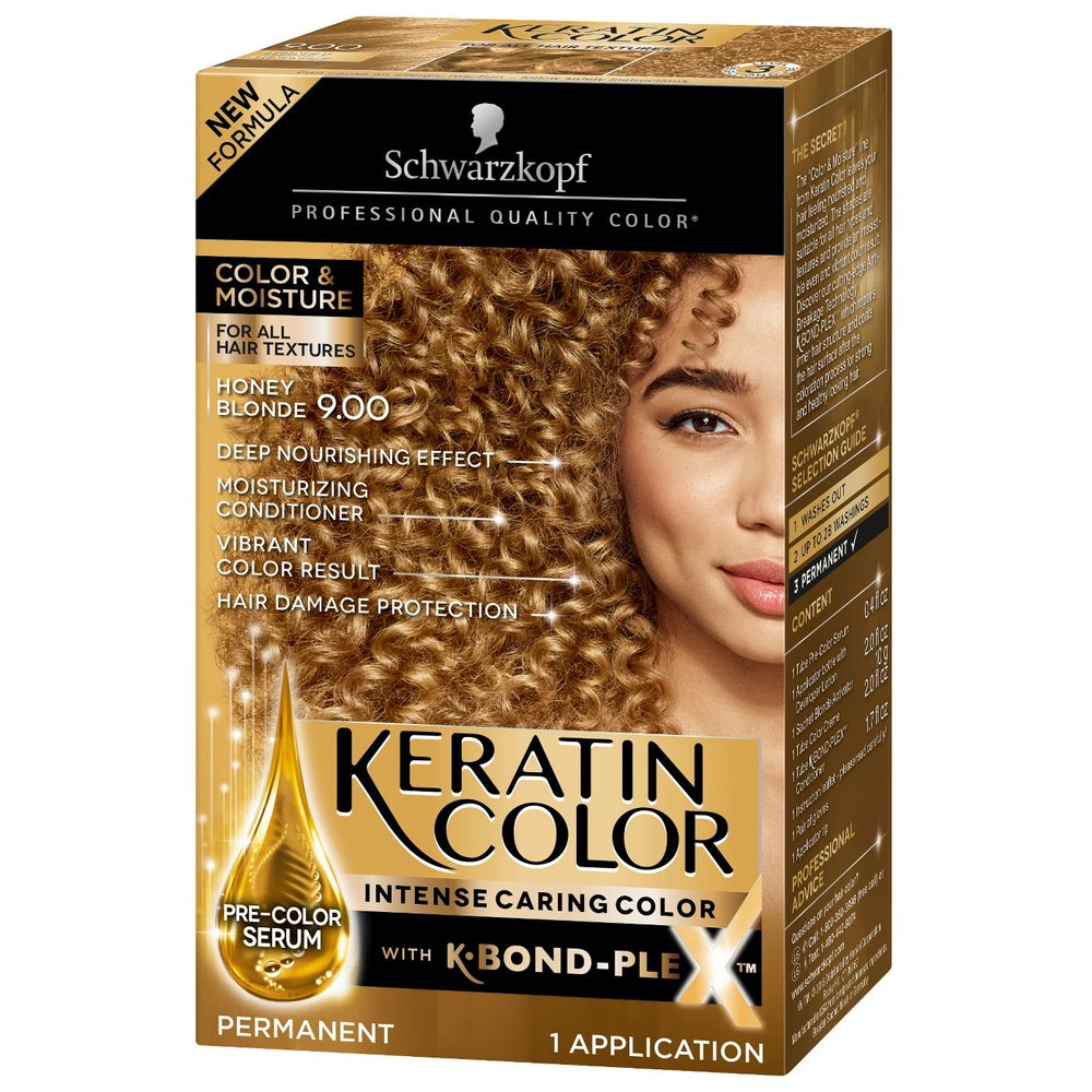 Schwarzkopf Keratin Color Honey Blonde Permanent Hair Color