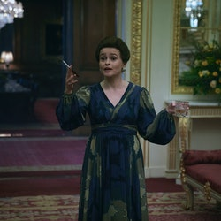 Helena Bonham Carter as Princess Margaret in 'The Crown' via the Netflix press site.