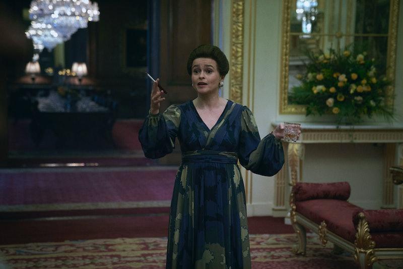 Helena Bonham Carter as Princess Margaret in 'The Crown' via the Netflix press site.