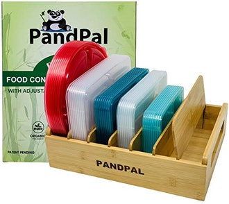 PandPal Adjustable Bamboo Lid Organizer