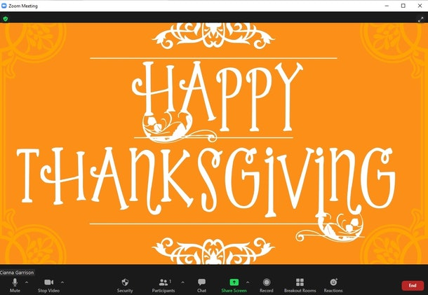 These Thanksgiving Zoom backgrounds will make your calls so festive.