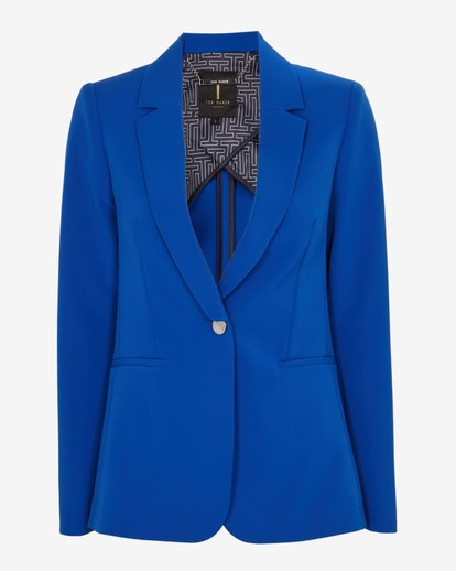 Longline single breasted jacket