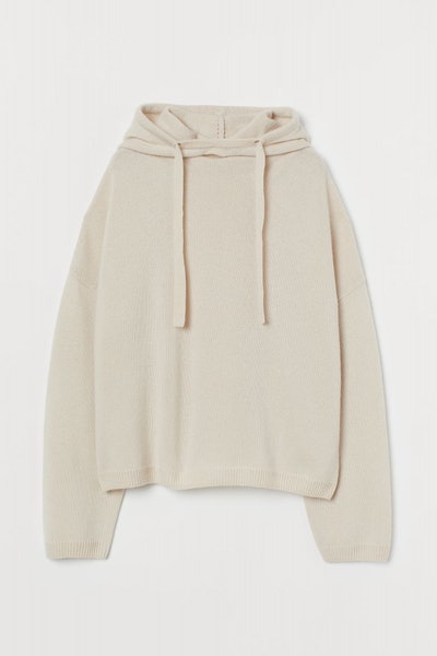 Knit Cashmere-Blend Hoodie
