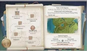 Genshin Impact Version 1.2 treasure map