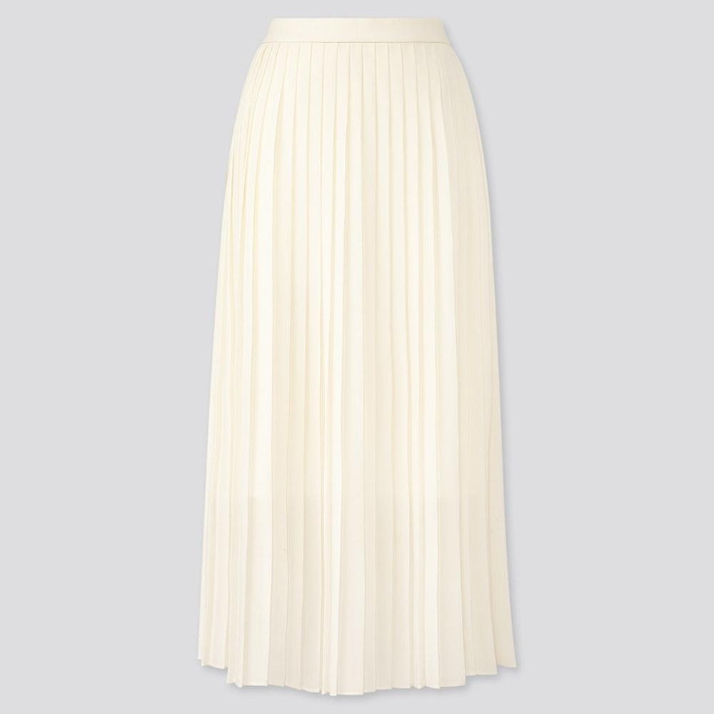 Chiffon Pleated Long Skirt