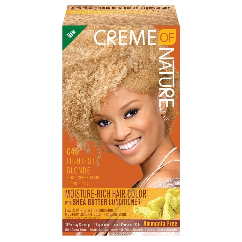 Creme of Nature Moisture Rich Hair Color Kit in Lightest Blonde