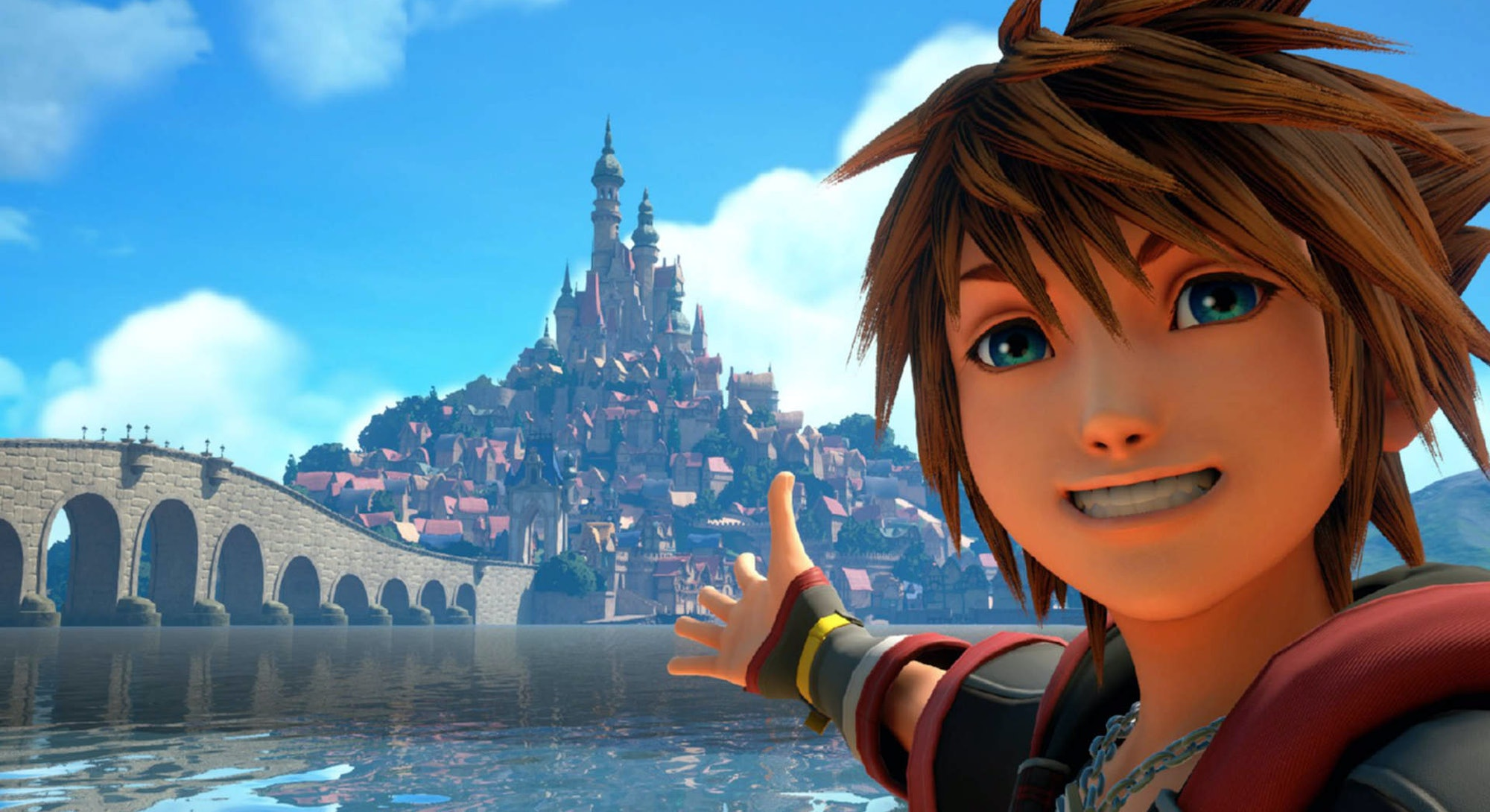 Sora taking a selfie.