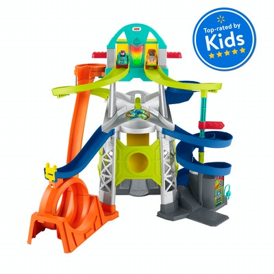 Fisher-Price Little People Launch & Loop Raceway Vehicle Playset