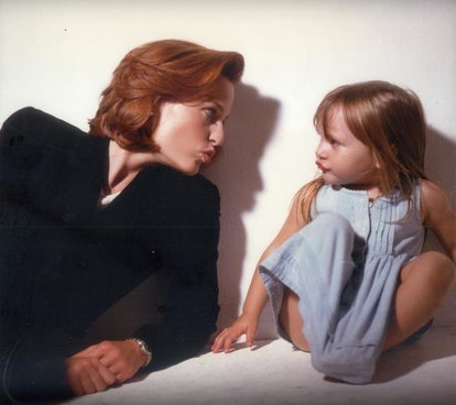 Gillian Anderson in 1996 with her daughter Piper.