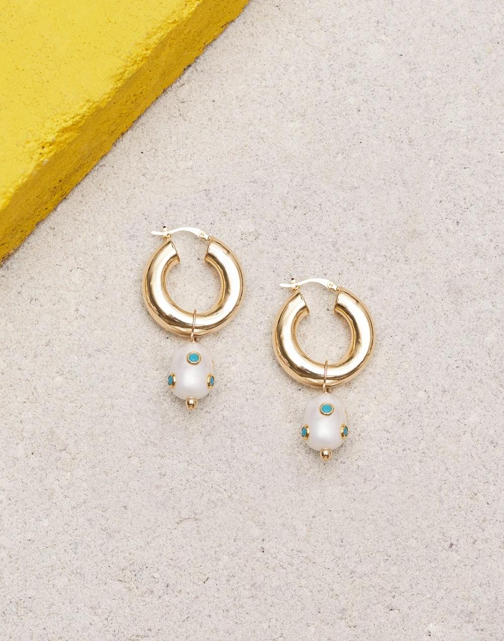 Lamia Turquoise Earrings