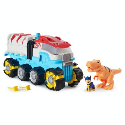 PAW Patrol, Dino Rescue Vehicle with Chase and T. Rex Figures