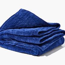 A blue gravity blanket on sale for Black Friday