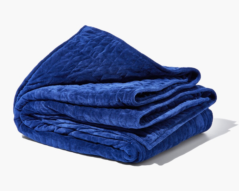 A blue gravity blanket on sale for Black Friday