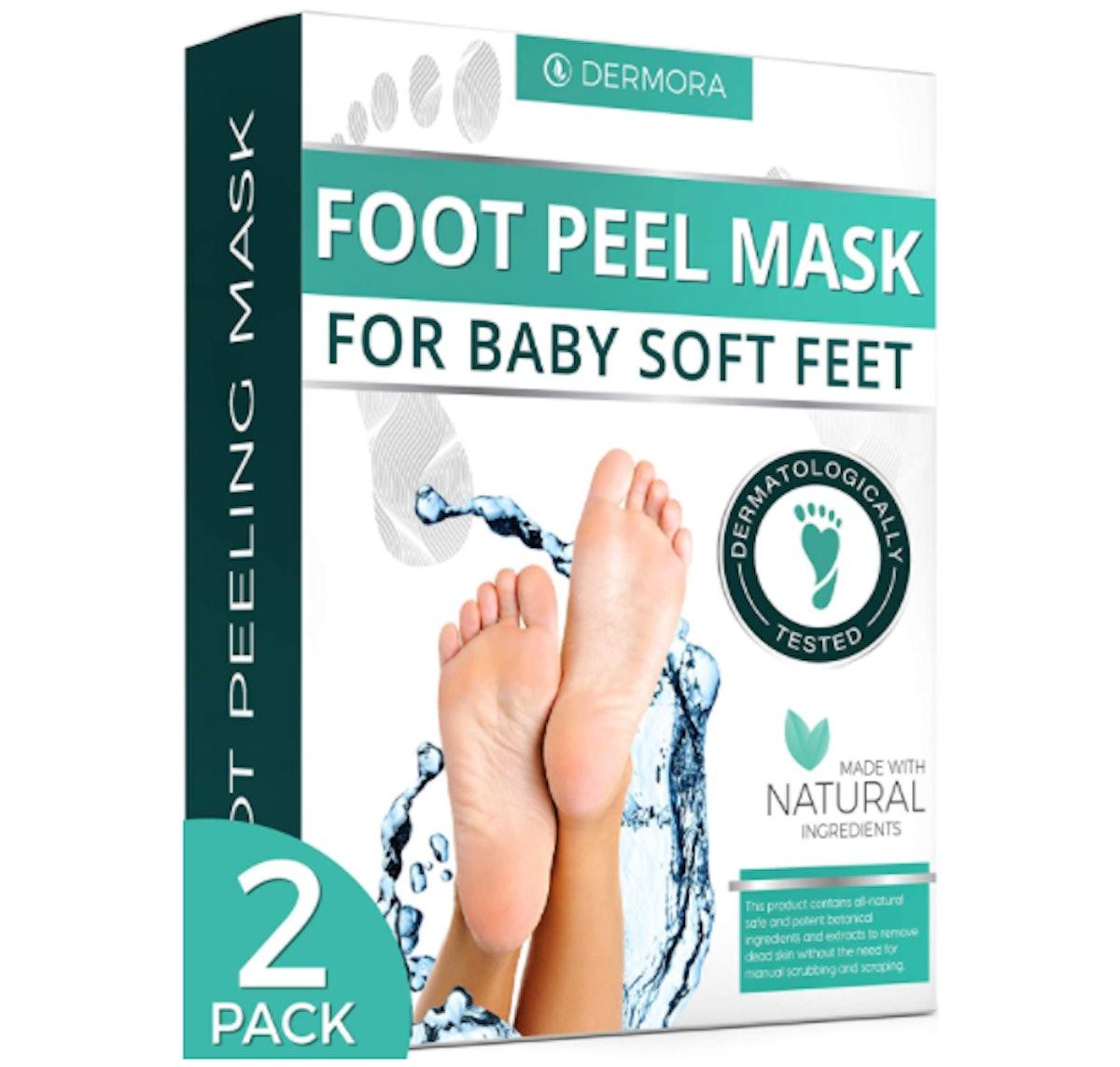 DERMORA Foot Peel Masks (2-Pack)