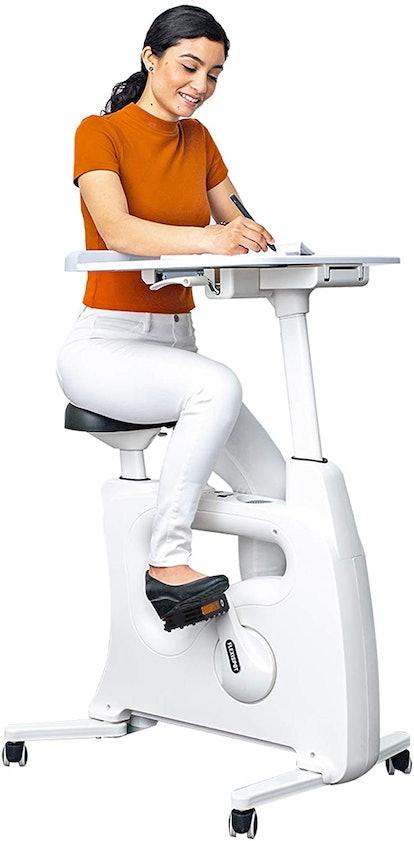 Adjustable Exercise Bike Desk Standing Desk Cycle for Home Office - Deskcise Pro