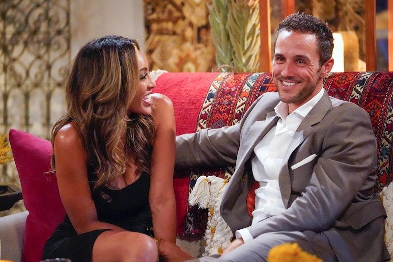 Tayshia and Zac C. on 'The Bachelorette,' via ABC press site.