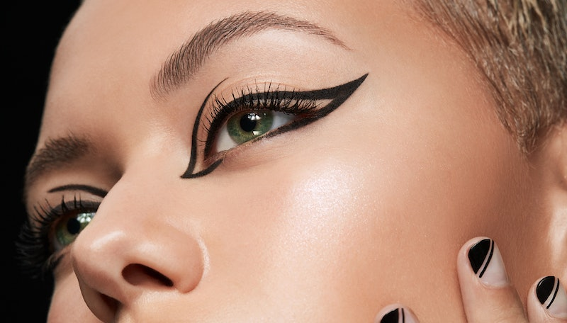 Stila Stay All Day Dual-Ended Waterproof Liquid Eye Liner on model.
