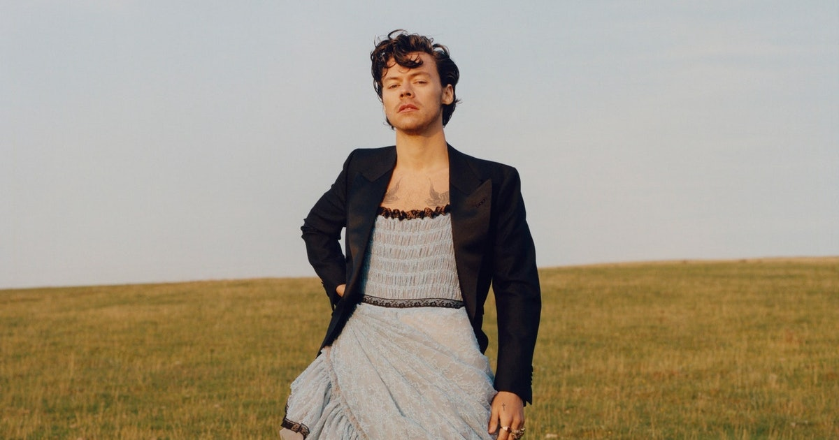 conservatives are so mad harry styles wore a dress in vogue flipboard flipboard