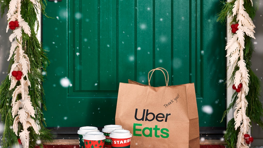 Starbucks' and Uber Eats' Deliver It Forward holiday deal will let you gift $10 e-cards.