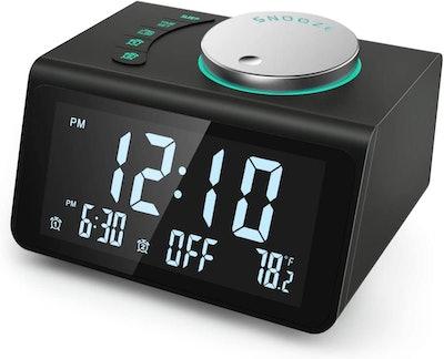 ANJANK Small Digital Alarm Clock Radio