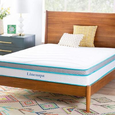 Linenspa Memory Foam Innerspring Hybrid Mattress