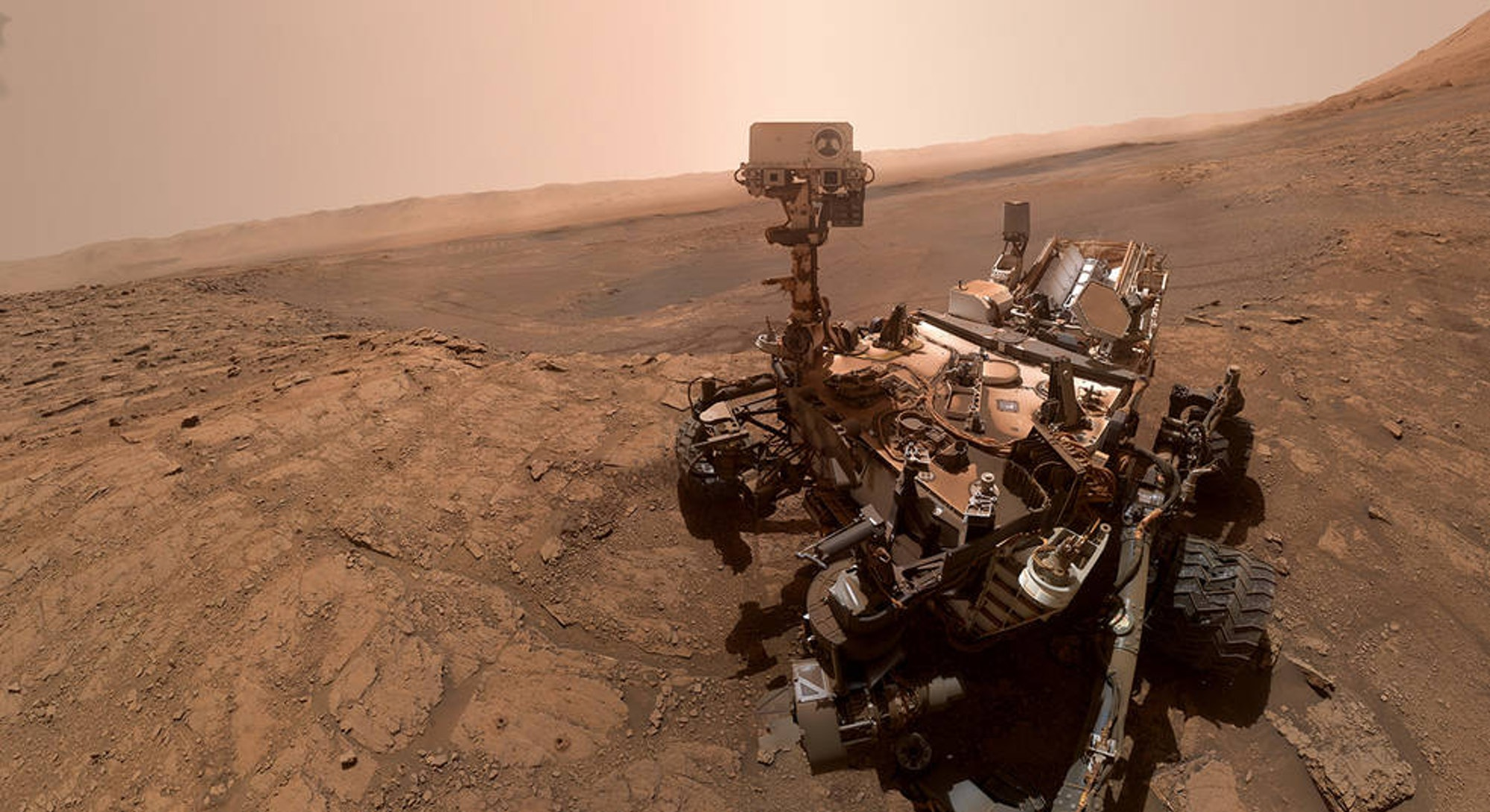 NASA curiosity rover selfie