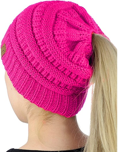 C.C Beanie with Ponytail Hole