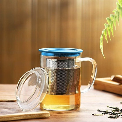 Tomotime Glass Tea Infuser Cup with Lid