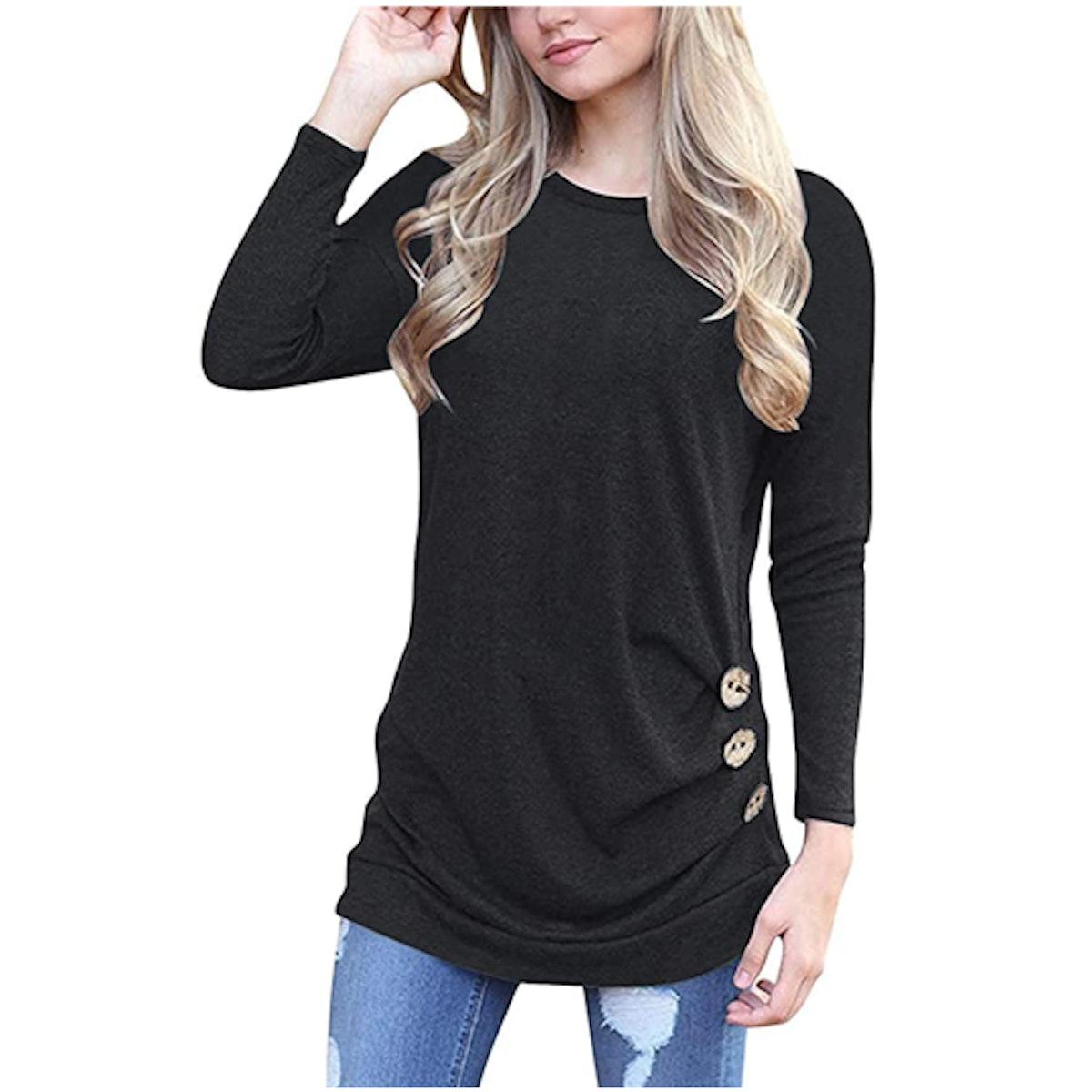 Yincro Side Button T-Shirt