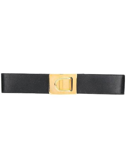 Pre-Owned 1980s Slim Buckle Belt