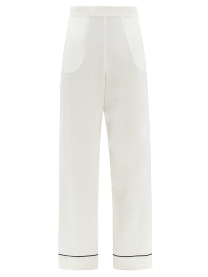 London Sandwashed Silk-Satin Pyjama Trousers