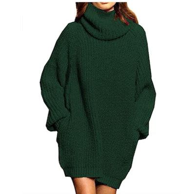 Pink Queen Oversize Turtleneck Sweater