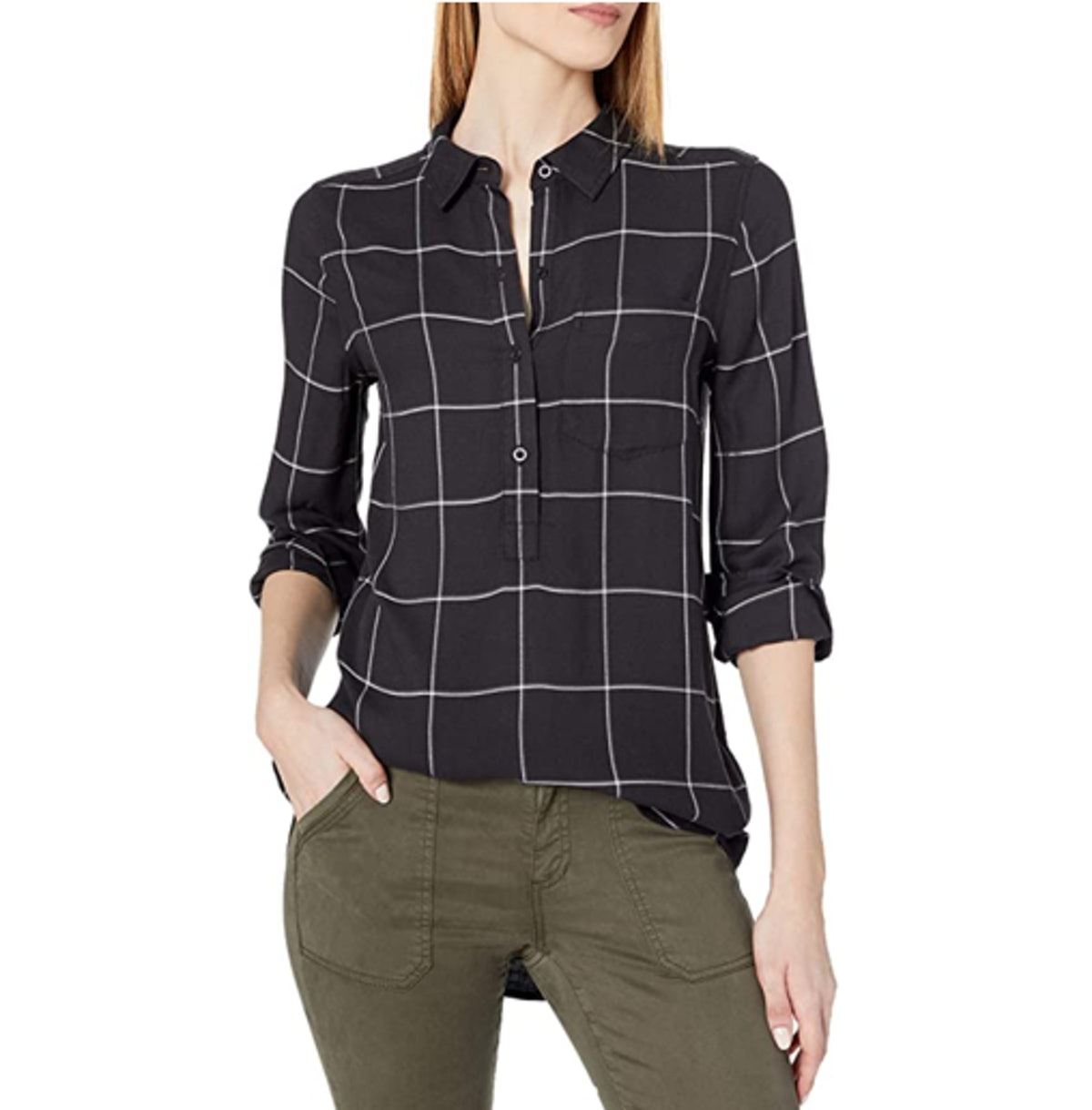 Daily Ritual Soft Rayon Popover Top