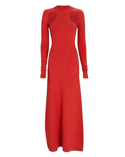 Cut-Out Merino Wool Sweater Dress